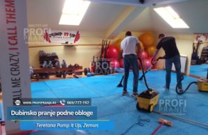 Dubinsko-pranje-podne-obloge-Teretana Pump-It-Up-Gym,-Zemun