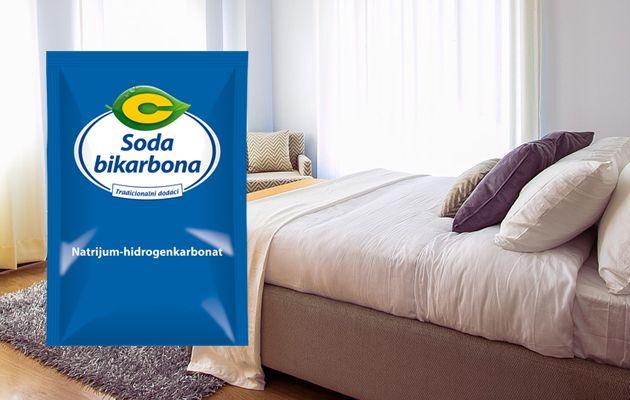 soda bikarbona i krevet