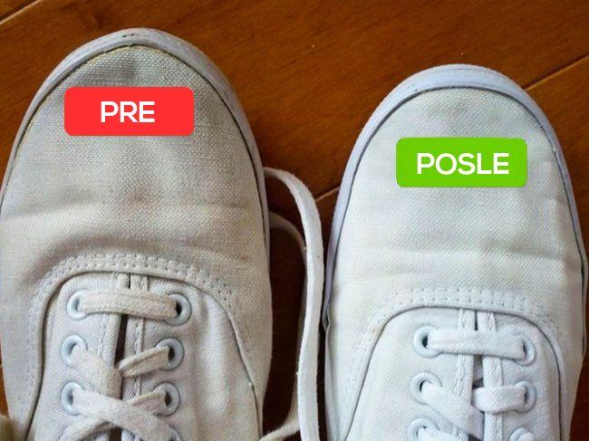 Ciscenje belih patika pre i posle