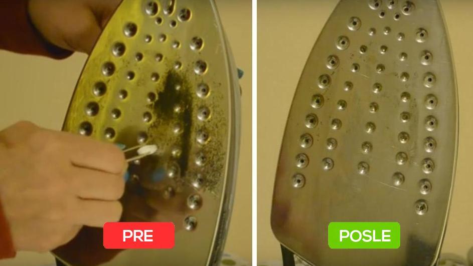 Ciscenje pegle pre i posle